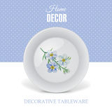 Advertising banner with decorative ceramic tableware Royalty Free Stock Images
