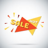 Advertising banner. Hot sale. Colorful vector illustration. Stock Images