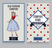 Advertising banner in retro american style Royalty Free Stock Images