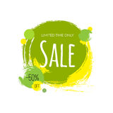Advertising banner. Sale. 50 percent off. Limited time only. Stock Photos