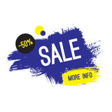 Advertising banner. Sale. 50 percent off. More info. Stock Photos