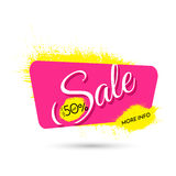 Advertising banner. Sale. Upto 50 percent off. More info. Royalty Free Stock Photography