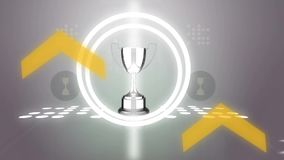 Advertising banner for sports awards. Can be used for all sports and for all occasions stock footage