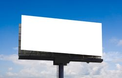 Advertising Billboard. Outdoor advertising billboard on blue sky stock images