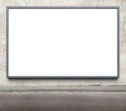 Advertising billboard. Blank advertising billboard on a street wall stock images