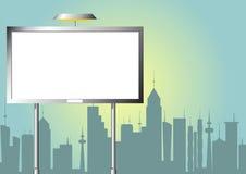Advertising billboard at city Stock Photos