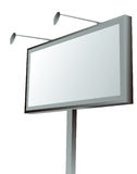 Advertising billboard with lamps on white. Vector illustration Royalty Free Stock Images