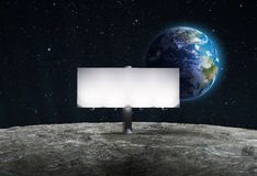 Advertising billboard on Moon Royalty Free Stock Images