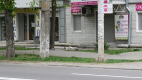 Advertising billboard of the news agency reporter.in.ua. Text slogan