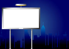 Advertising billboard by night Royalty Free Stock Photo