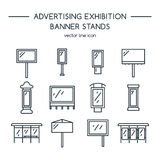 Advertising billboards and banner display, exhibition stands. Royalty Free Stock Image