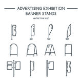Advertising billboards and banner display, exhibition stands. Royalty Free Stock Photo