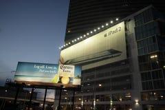 Advertising billboards downtown Miami Royalty Free Stock Photos