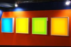 advertising blank panels Στοκ εικόνες με δικαίωμα ελεύθερης χρήσης