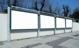 Advertising boards Royalty Free Stock Images