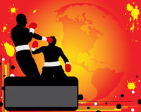 Advertising of boxing Stock Photo