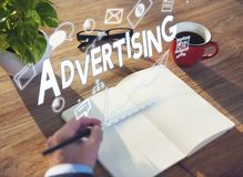 Advertising Branding Commercial Communication Concept royalty free stock photography