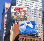 Advertising Broadway Shows Royalty Free Stock Photography