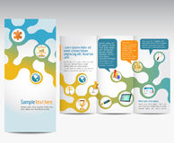 Advertising brochure. Templates for advertising business brochure Royalty Free Stock Photos
