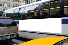 Advertising on Bus Billboard Stock Photography