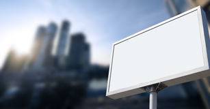 Advertising on business building Stock Image