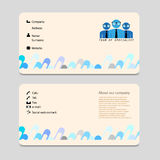 Advertising business card  Royalty Free Stock Photo