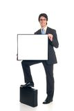 Advertising businessman Stock Photography