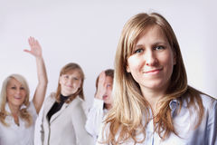 Advertising of businesswoman Stock Photography