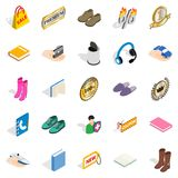 Advertising campaign icons set, isometric style Stock Photography