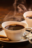Advertising card for a coffee house or cafe Stock Photography