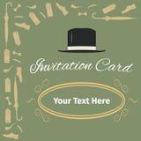 Advertising card with gentleman set Royalty Free Stock Photos