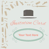 Advertising card with gentleman set Stock Photography