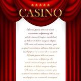 Advertising casino design Royalty Free Stock Image