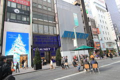 Advertising, city, pedestrian, mixed, use, neighbourhood, street, metropolitan, area, building, downtown, metropolis, facade, shop. Photo of advertising, city stock image