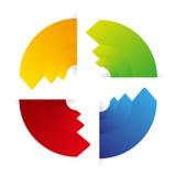 Advertising color arrows  Stock Photos