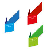 Advertising color paper arrows Royalty Free Stock Photo