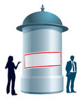 Advertising column Stock Image