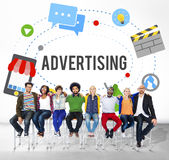 Advertising Commercial Marketing Branding Concept.  royalty free stock images