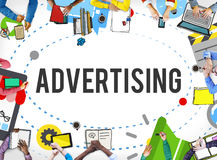 Advertising Commercial Marketing Branding Concept royalty free stock image