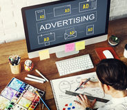 Advertising Commercial Marketing Digital Branding Concept royalty free stock photo