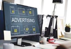Advertising Commercial Marketing Digital Branding Concept. Advertising Commercial Marketing Digital Branding stock photos