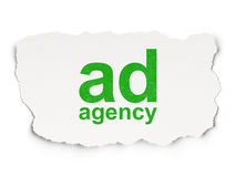 Advertising concept: Ad Agency on Paper background Royalty Free Stock Photography