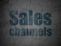 Advertising concept: Sales Channels on grunge wall background Royalty Free Stock Image