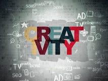 Advertising concept: Creativity on Digital Paper Stock Photo