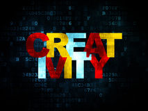 Advertising concept: Creativity on Digital Stock Photography