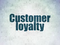 Advertising concept: Customer Loyalty on Digital Data Paper background Stock Photo