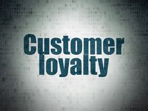 Advertising concept: Customer Loyalty on Digital Data Paper background Royalty Free Stock Photos