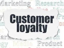 Advertising concept: Customer Loyalty on Torn Paper background Royalty Free Stock Image