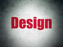 Advertising concept: Design on Digital Data Paper background Royalty Free Stock Photography