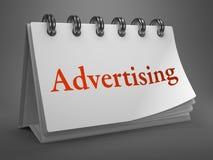 Advertising Concept on Desktop Calendar. Stock Photography